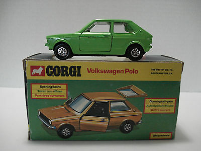 Corgi Volkswagen Polo # 289-A With Box Vintage Made In Gt. Britain 1976