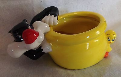Looney Tunes Sylvester Cat   & Tweety Bird Warner Bros. Planter