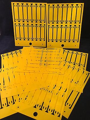 140 X Cembre MG-ETF 54142 13 X 57mm Yellow PVC Tie On Cable Tags Free P&P (BN2O)