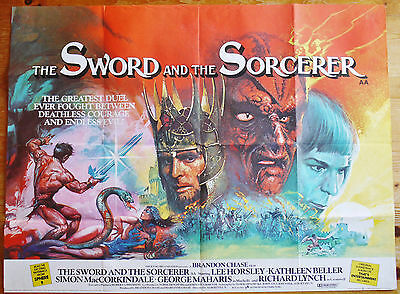 vintage The Sword And The Sorcerer quad film poster 1982 Excellent Condition
