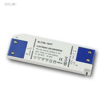 LED Super Slim Transformer 12v Dc, 20w, Transformer, Evg , Drivers Flat