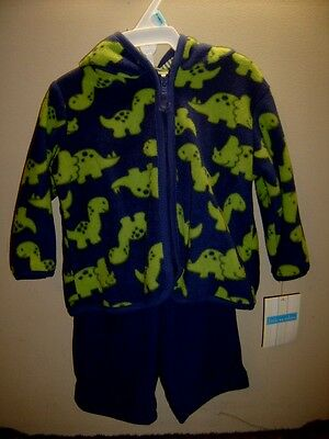 13fd18bea2 Dinosaur fleece Hoodie pant set new Little Wonders 3 6 mons Infants Fall  wear
