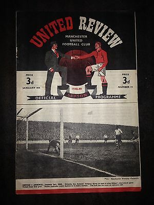 1949/50 Manchester United v Weymouth  (FA Cup)