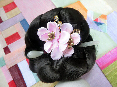 Hanbok Hair pin Korean traditional accessorie for Hanbok _Pink Rose of Sharon
