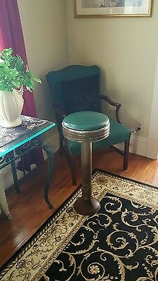 Vintage Industrial 1930's Swivel Parlor Stool