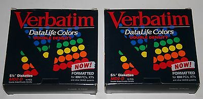 """19 Verbatim DataLife Color 5 1/4"""" MD2-HD Double-Sided Disks"""