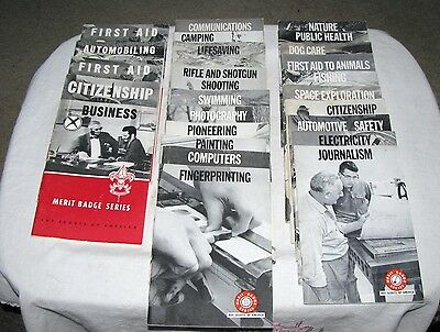 Vintage Boy Scouts of America Merit Badge Booklets, '50's/'60's, Lot of 30