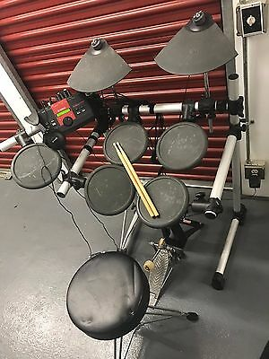 Yamaha DTXplorer Electronic DTXPL Drum Set Complete with seat and pedals Tested