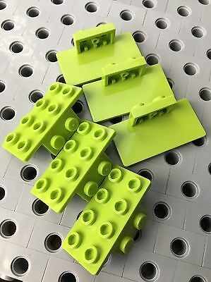 1x1 Lime Green Plate w// Fang Bricks  ~ Lego  ~ NEW 6
