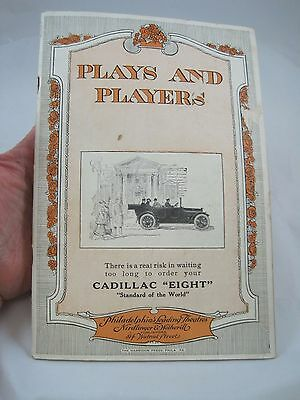Vintage 1916 Garrick Theater Program Plays and Players Philadelphia Through Ages