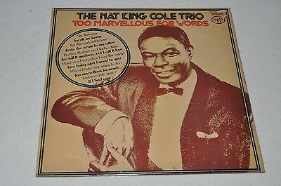 The Nat King Cole Trio - Too Marvellous For Words - LP Capitol