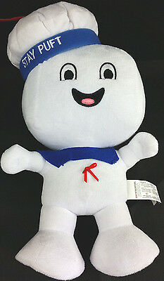 """Pre-Owned 2016 Ghostbusters Stay Puft Plush Plays Theme Who You Gonna Call 14"""""""