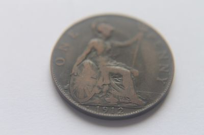 Rare 1912H Heaton Mint British One Penny Coin Ship Titanic Sank 104 Years Old