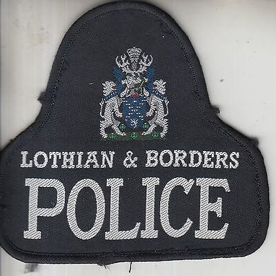 Obsolete Lothian & Borders Police Embroidered Cloth Patch / Badge