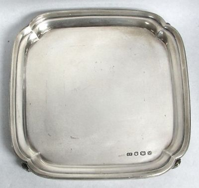 Perfect Size Sheffield Sterling Silver Low 4 Foot Vanity Tray