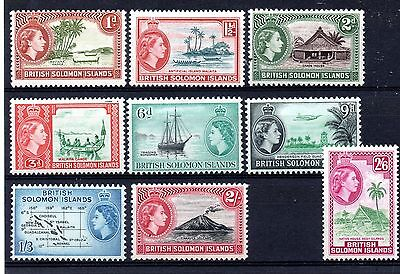 British Soloman Islands (1228)  1963 Queen Elizabeth Water mark change set LMM