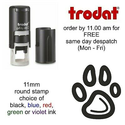Paw Print Loyalty Card Stamp Self Inking rubber dog cat pet veterinary vets pet