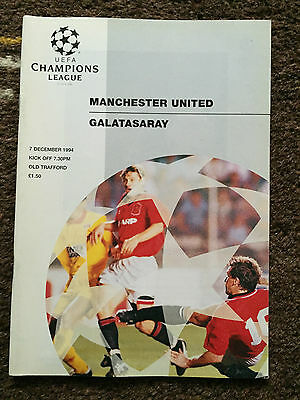 MANCHESTER UNITED v GALATASARAY : 1994/1995 UEFA Champions League 7th Oct 1994