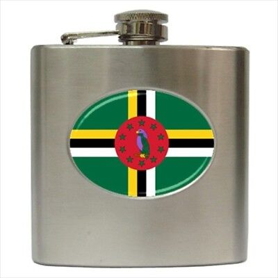 Dominica Stainless Steel Hip Flask