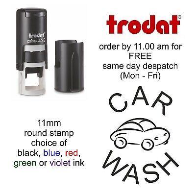 Car Wash Loyalty Card Stamp Self Inking rubber garage valeting workshop cleaners
