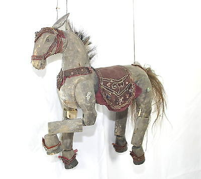 Rare Large Antique 19Th Century Wooden Horse Puppet Collectable Investment
