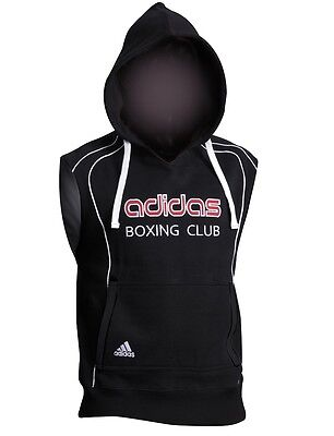 adidas Hoody Boxing Club sleeveless Black,Kampfsport Boxen Muay Thai Sweatshirt