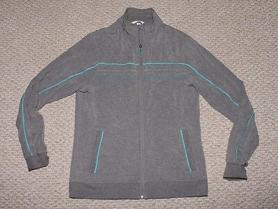 Mens Lululemon Track Jacket - Mens Large - Grey with Blue Stripe