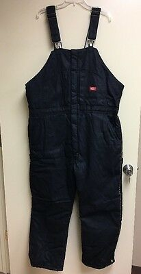 DICKIES BLACK INSULATED BIB WORK OVERALLS SZ 2XL Men's {