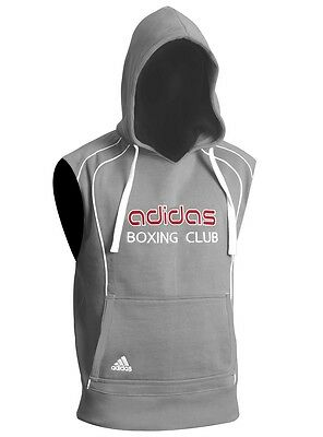 adidas Hoody Boxing Club sleeveless Grey,Kampfsport Boxen Muay Thai Sweatshirt
