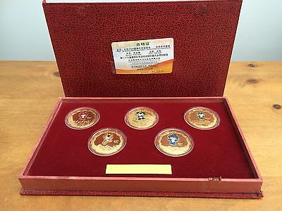 2008 Beijing Summer Olympic Games Mascot Gold Coins Commemorative Medallion Set