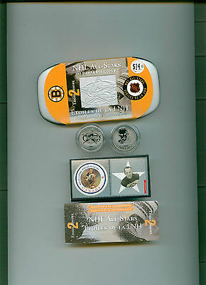 Eddie Shore 2001 CANADA MINT STAMP AND MEDALLION SET MINT IN CASE! Boston