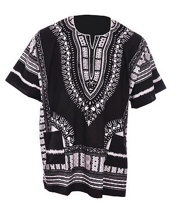 Plus Size Black African Unisex Dashiki Shirt DP3578 XL ,2X, 3X, 4X, 5X, 6X, 7X