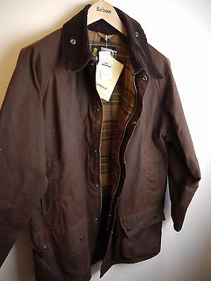 Barbour Men's Gamefair Wax Jacket, Rustic Brown, Large, New With Tags