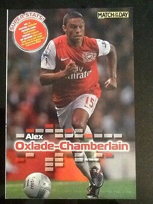 """A4 Football """"Match Of The Day"""" picture/poster CHAMBERLAIN, Arsenal"""