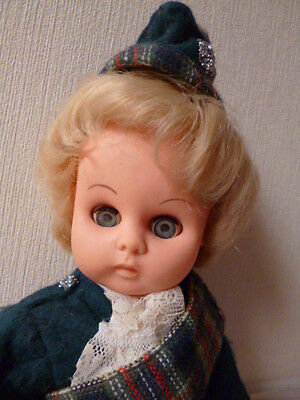 BJB.  Fabulous vintage doll in handmade Scottish outfit dolls clothes