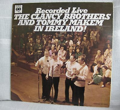 CLANCY BROTHERS & TOMMY MAKEM 'RECORDED LIVE IN IRELAND' 1965 Stereo CBS 62479
