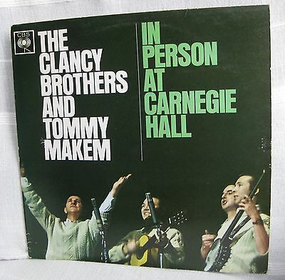The CLANCY BROTHERS & TOMMY MAKEM ' IN PERSON AT CARNEGIE HALL'.Vinyl LP. Stereo