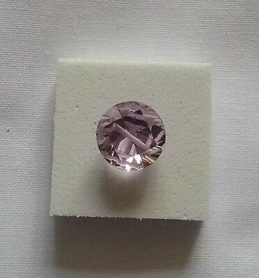 Pink Amethyst 3cts Drilled Round Illusion Cut Loose Gemstone 10mm