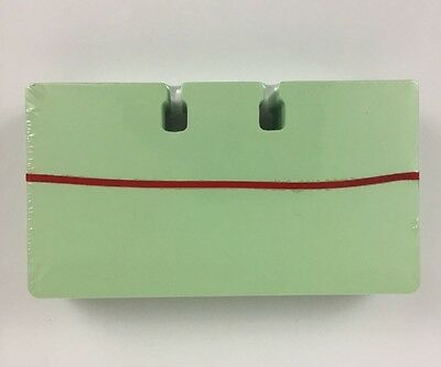 """100 Pack Green 2.25"""" x 4"""" Rolodex Refill File Cards"""