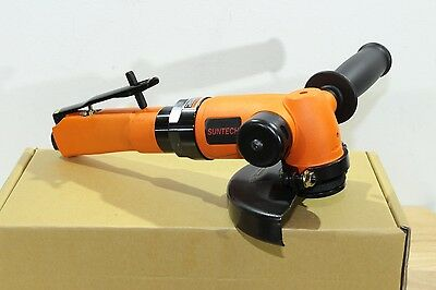 "Suntech 1.6 HP Heavy Industrial Pneumatic Air 4-1/2"" / 5"" Angle Grinder 5/8""-11"