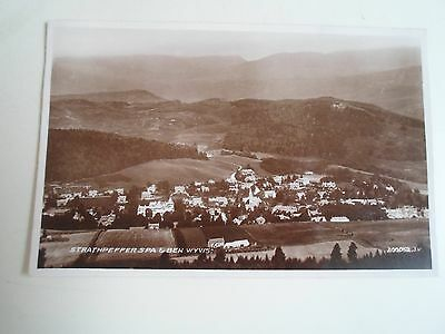 Vintage Real Photo Postcard Strathpeffer Spa & Ben Wyvis (A+M Foster The Square)