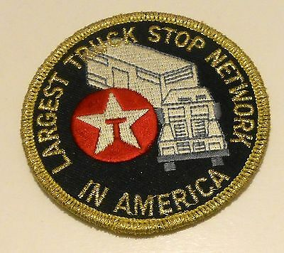 Texaco Truck Stop Gasoline Patch Embroidered Oil 3 inches  Vintage