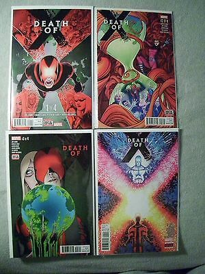 Death of X #1,2,3, and 4 complete comic lot. X-Men Inhumans