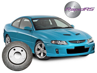 Holden Commodore VT VX VU VY VZ SS SV6 SLOTTED BRAKE DISC ROTORS FRONT JHOOK MAX