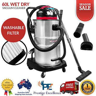 Wet and Dry Bagless Vacuum Cleaner & Blower Industrial Commercial Grade 60L New