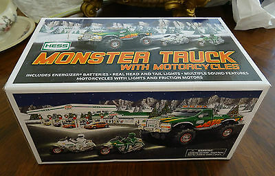 2007 Hess Monster Truck with Motorcycles Brand New in Box