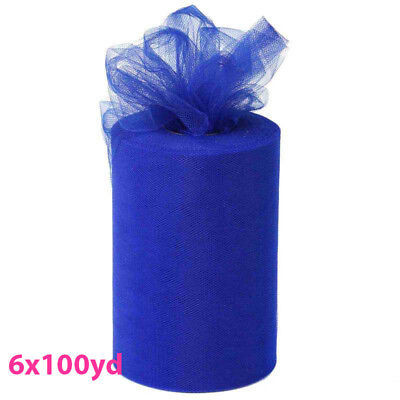 6inch x 100yd Quality Tulle Roll - Royal