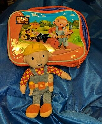 BOB the BUILDER mini Plush doll and rare lunchbox carry case