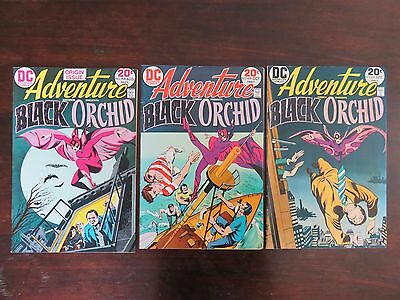 Adventure Comics #428-#430 - Complete Black Orchid run! VF- 7.5