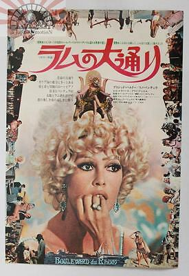 MCH29057 Rum Runners 1971 Japan Movie Chirashi Flyer Mini Poster Brigitte Bardot
